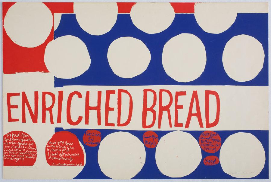 enriched bread, silketrykk, 1966